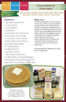 Digital Holiday Kit Card - Gingerbread Pancakes
