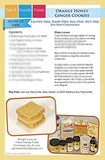 Orange Honey Ginger Cookies Recipe Kit Card