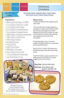 Kit Card - Oatmeal Cookies & Orange Honey Ginger Cookies