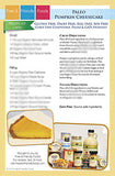 Paleo Pumpkin Cheesecake Recipe Kit Card
