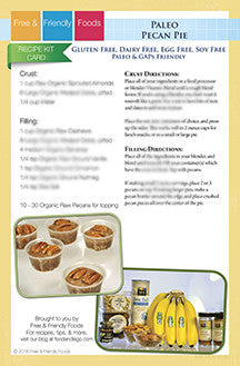 Paleo Pecan Pie Recipe Kit Card