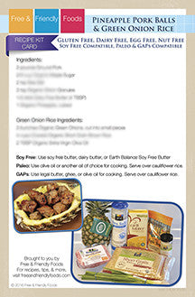 Pineapple Pork Balls Recipe Kit Card