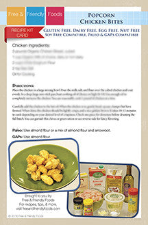 Kit Card - Popcorn Chicken Bites & Parmesan Chicken Bites