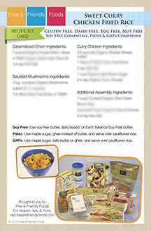 Sweet Curry Chicken Fried Rice Recipe Kit Card
