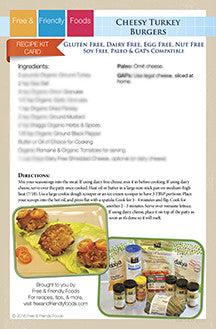 Kit Card - Cheesy Turkey Burgers & Paleo Salmon Cakes