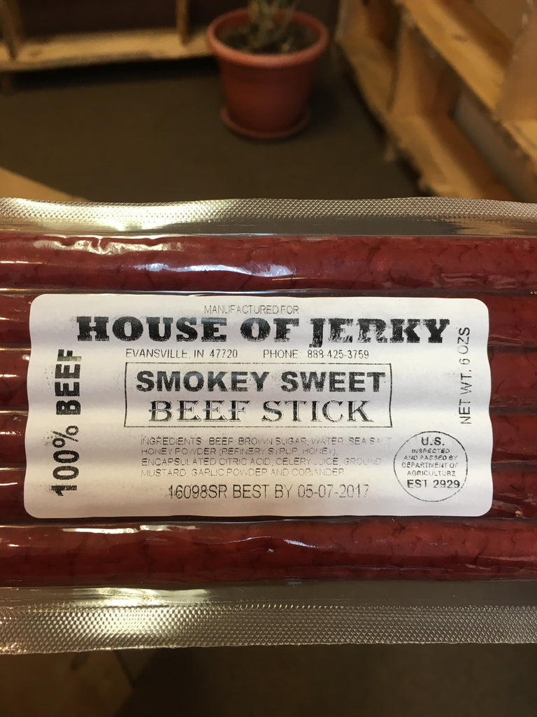 Beef Sticks: 6oz. Smokey Sweet