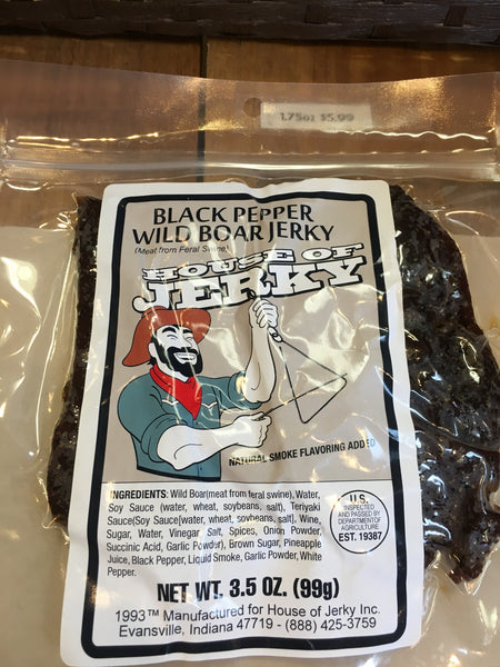 Wild Boar: Black Pepper 3.5oz