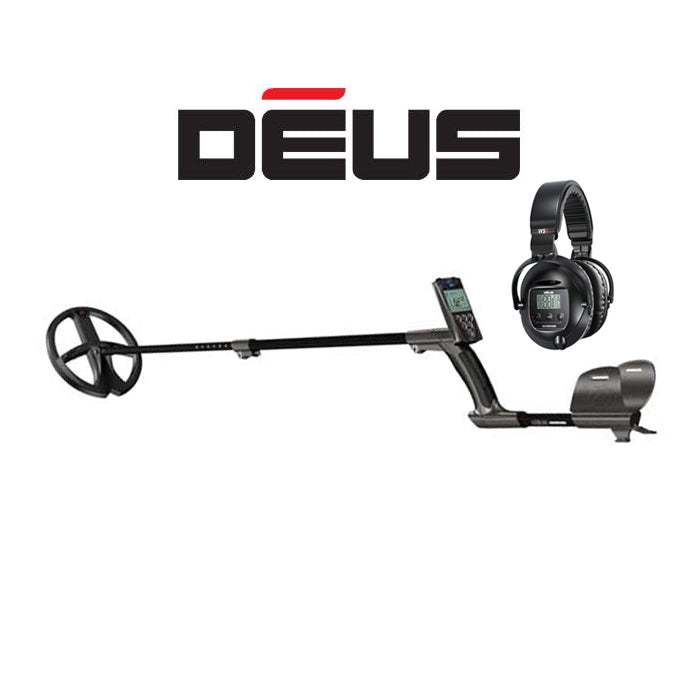 "XP DEUS With WS5 Full Sized Headphones + Remote + 9"" X35 Coil"