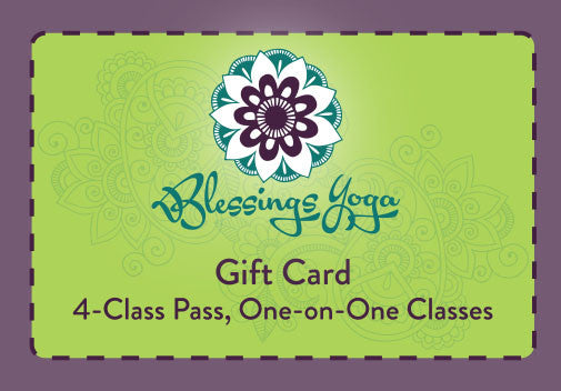 Four Class Pass: One-on-One Yoga Gift Card