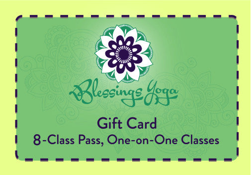 Eight Class Pass: One-on-One Yoga Gift Card