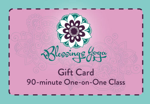 90-minute One-on-One Yoga Class Gift Card