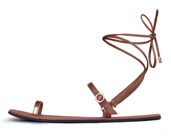 Sandal Nº3 – Brown Sugar Tie-up
