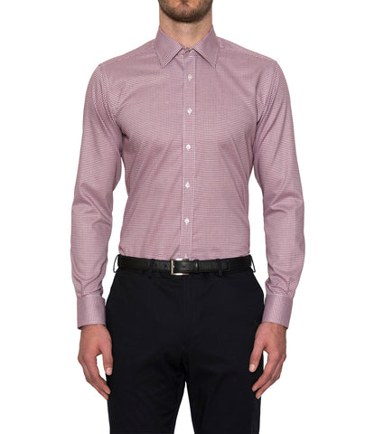 Pioneer Business Shirt in Pink Micro Check