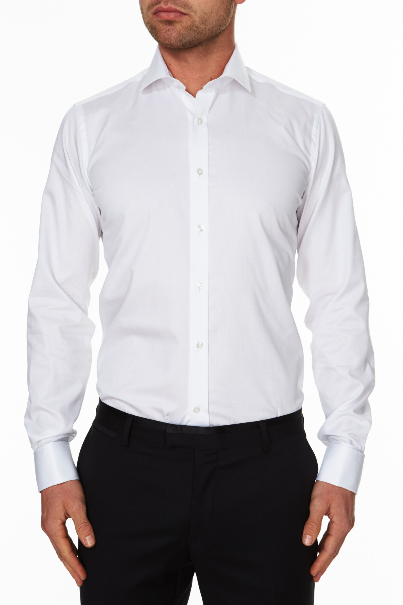 Leader Business Shirt White Front