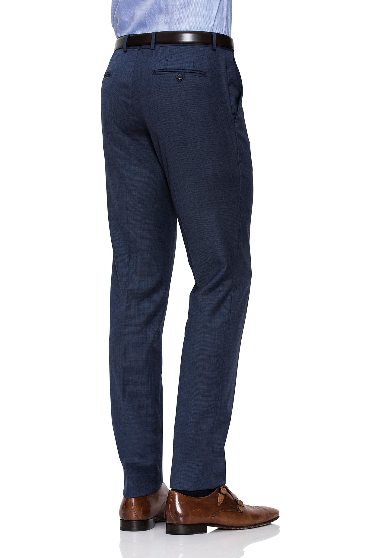 Razor Trouser in Micro Check Blue