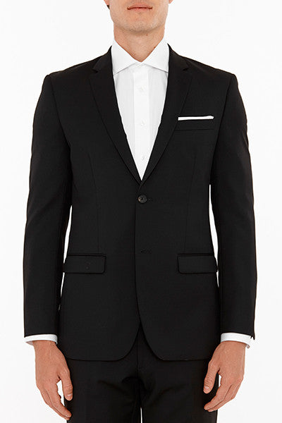 Anchor Suit Jacket in Black Front