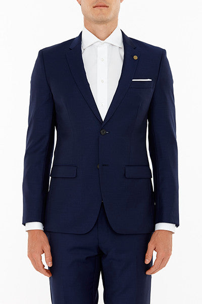 Anchor Suit Jacket in Navy Front