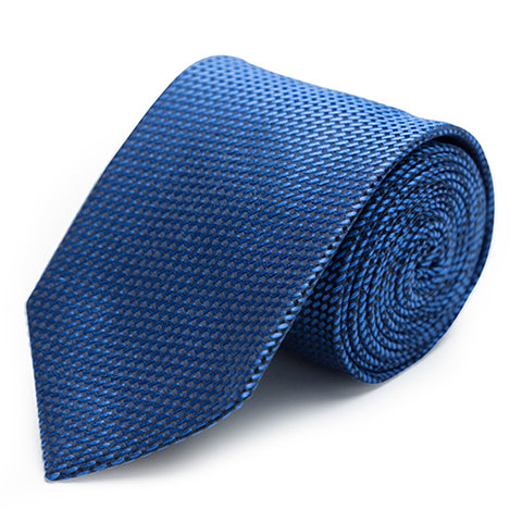 Soft polkadot tie in Blue