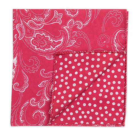 Double print floral pochette in Red