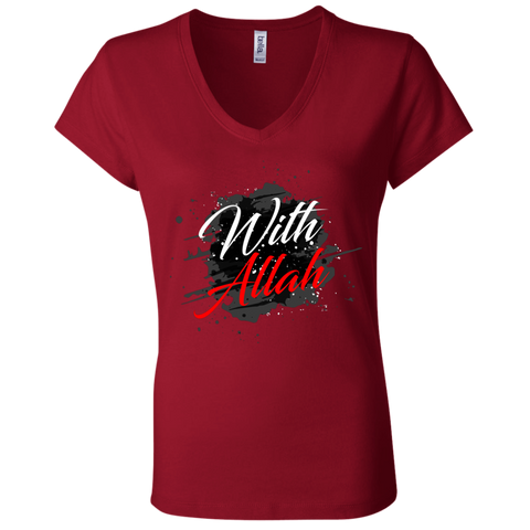 B6005 Bella + Canvas Ladies' Jersey V-Neck T-Shirt