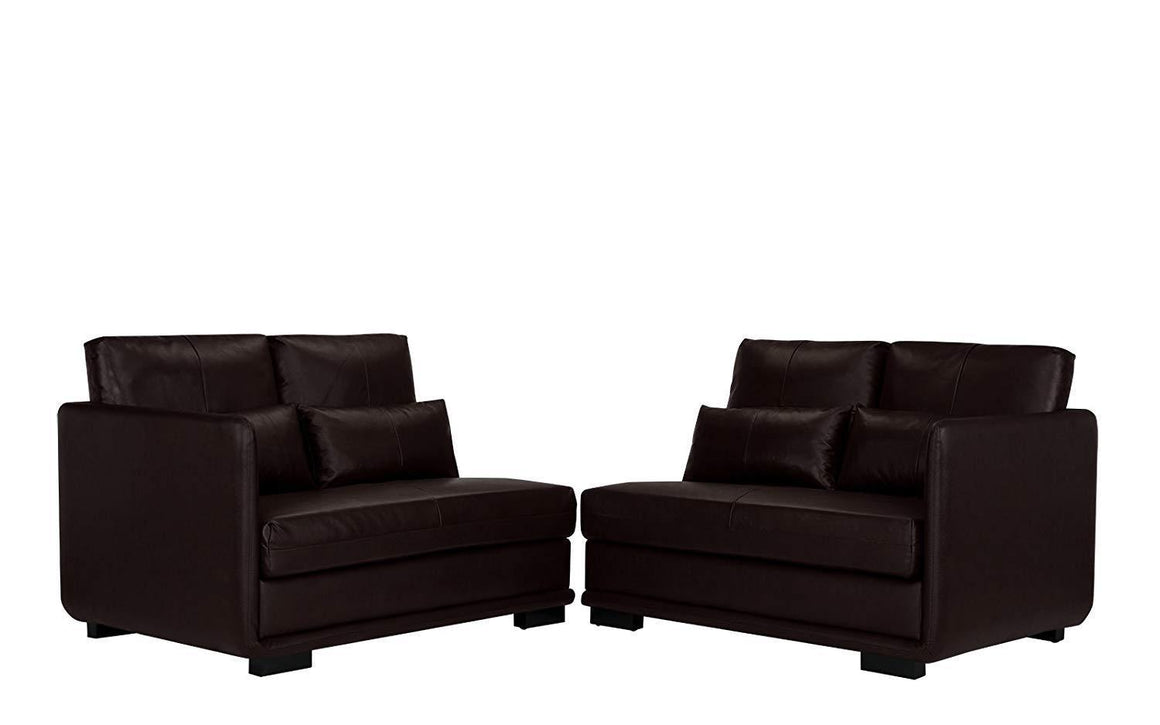 New Century® Brown Faux Leather Classic (2) Pieces Convertible Sofa
