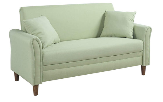 New Century® Green Two Tone Love Seat Living Room Sofa