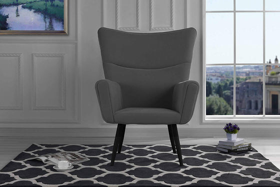 New Century® Gray Mid Century Velvet Accent Living Room Chair