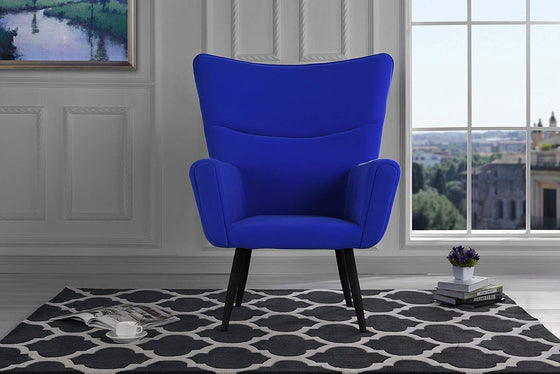 New Century® Navy Blue Mid Century Velvet Accent Living Room Chair