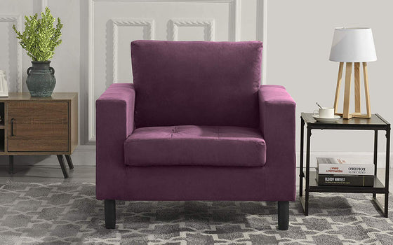 New Century® Purple Modern Velvet Accent Chair