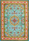 10015 Blue - Bargain Area Rugs  - 1