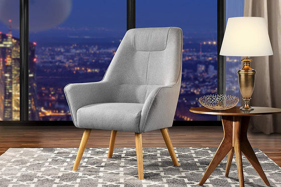New Century® Gray Upholstered Linen Accent Chairs