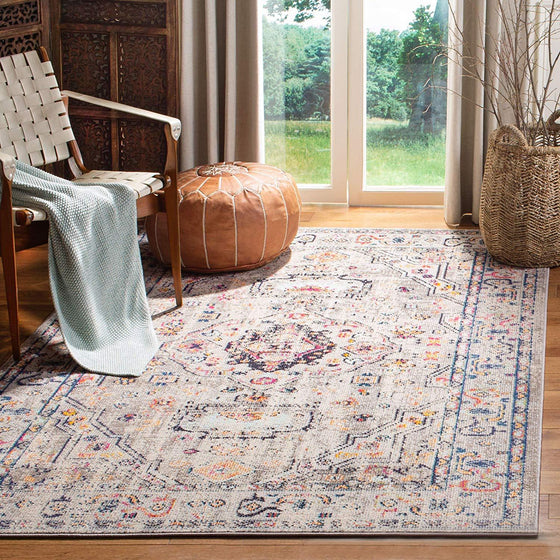 0115 Gray Distressed Vintage Oriental Area Rugs