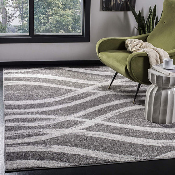 0107 Charcoal Gray Modern Contemporary Area Rugs