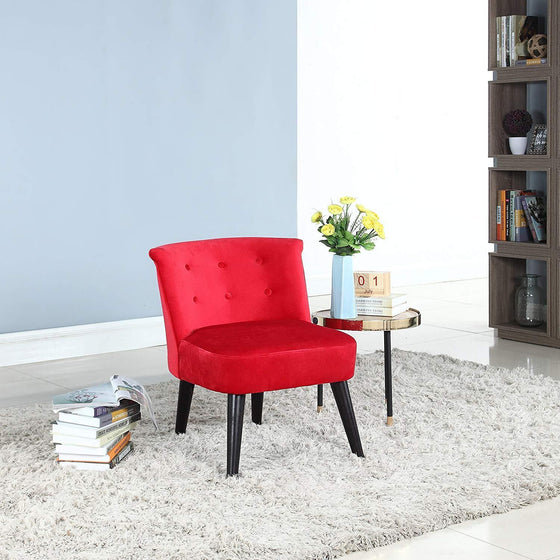 New Century® Classic Living Room Velvet Accent Chair, Red