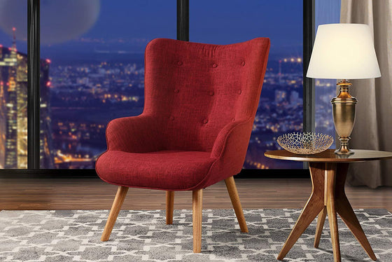 New Century® Red Tufted Accent Chair For Living Room
