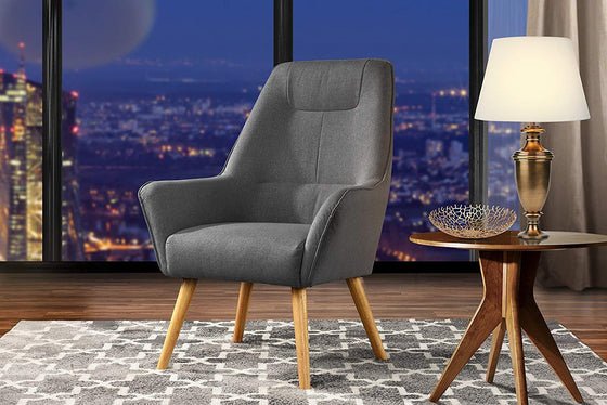 New Century® Dark Gray Upholstered Linen Accent Chairs