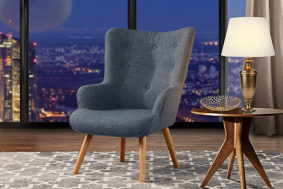 New Century® Gray Tufted Accent Chair For Living Room