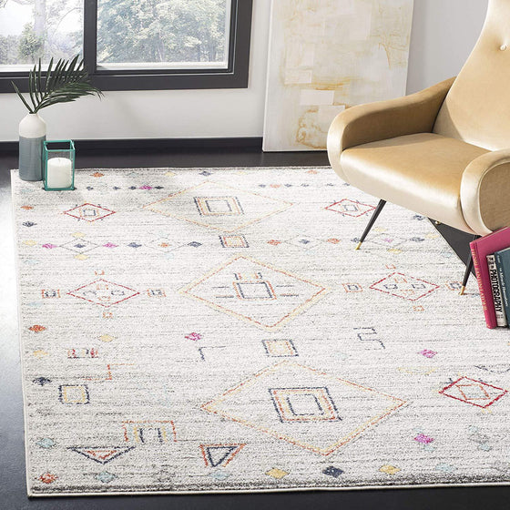 0108 Gray Moroccan Contemporary Area Rugs