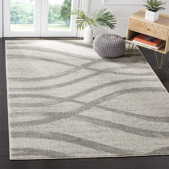 0107 Ivory Modern Contemporary Area Rugs