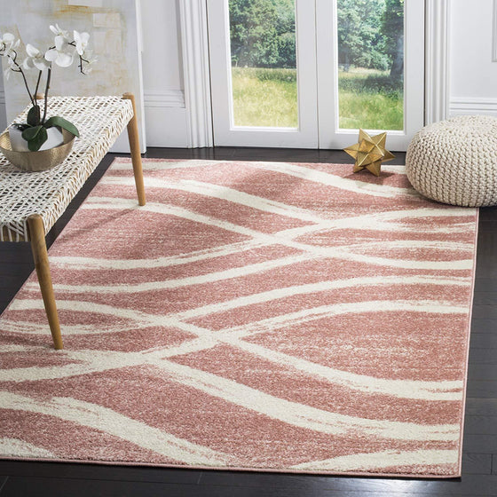 0107 Rose Modern Contemporary Area Rugs
