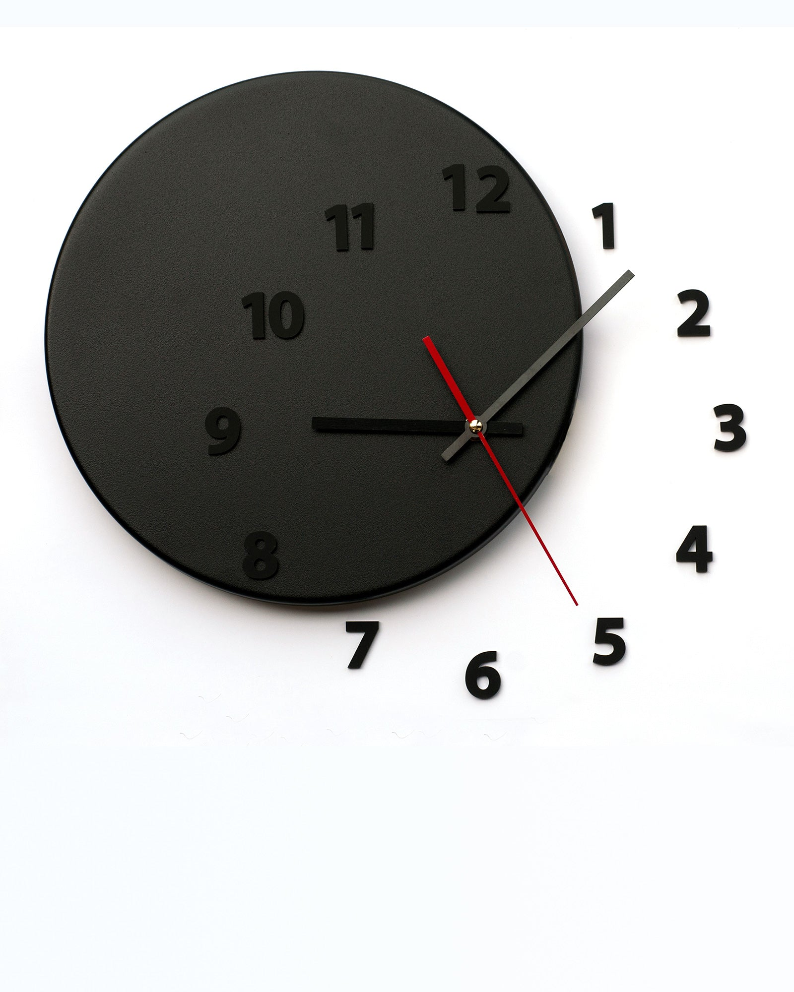 wall clock out of time black black light4dark