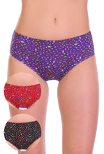 Sona Comfortable Cotton Multicolor Hipster Plus Size Panties 93002 combo pack of 3