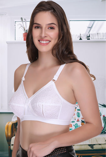 Women Delicate Super Everyday Full Coverage Plus Size Bra - Sona Lingeries