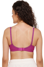 Sona M1001 Women Wine Everyday Non Padded T-Shirt Bra With Transparent Strap