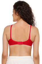 M1001 Women Red Everyday T-Shirt Bra With Transparent Strap