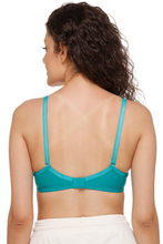 M1001 Women Sea Green Everyday T-Shirt Bra With Transparent Strap