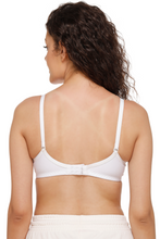 Sona M1001 Women White Everyday Non Padded T-Shirt Bra With Transparent Strap