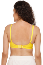 Sona M1001 Women Yellow Everyday Non Padded T-Shirt Bra With Transparent Strap