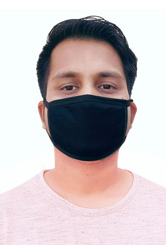 Sona Care Double Layer Anti-Pollution Black Face Mask