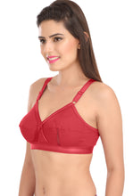 Perfecto Maroon Color Full Cup Everyday Plus Size Cotton Bra